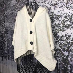 Xhilaration poncho sweater w/ hood
